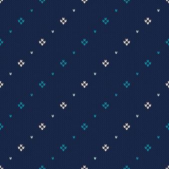 Suéter de tricô . padrão de tricô sem costura