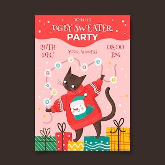 Suéter feio convite para festa