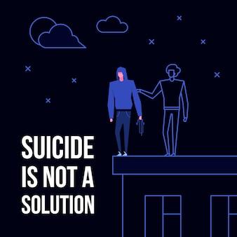 Suicídio mental doença desordem prevenção conceito