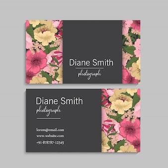Suite de cartão de convite de casamento com flores