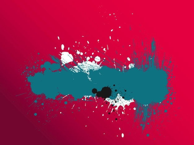 Sujo splatters colorido bandeira