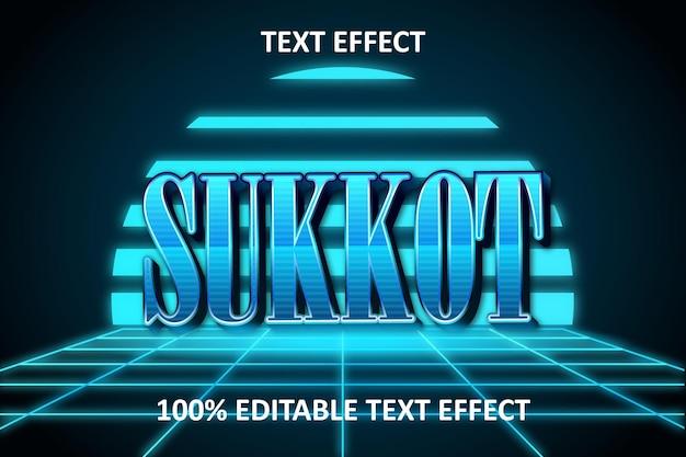 Sukkot com efeito de texto editável retro leve