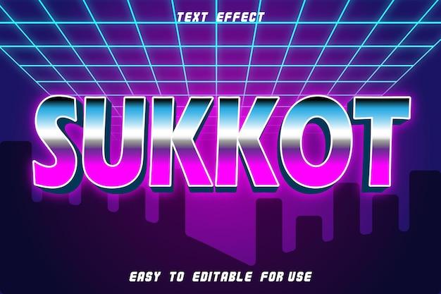 Sukkot editable text effect emboss style retro