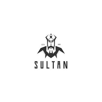 Sultão de silhueta criativa com vetor de design