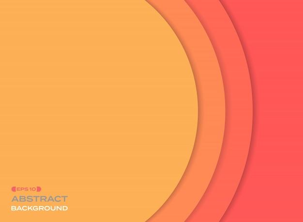 Sumário do fundo alaranjado da cor de tom do sol do corte do papel.