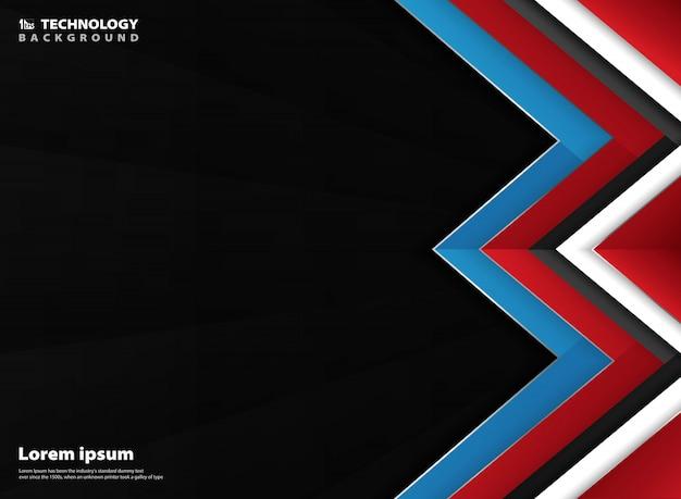 Sumário geométrico do fundo vermelho branco azul do inclinação.