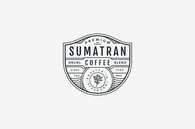Sumatran premium coffee café bw