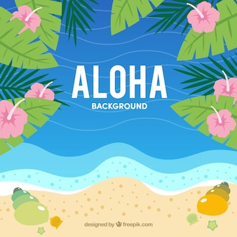 Summer beach aloha background