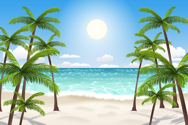 Summer landscape - background para zoom