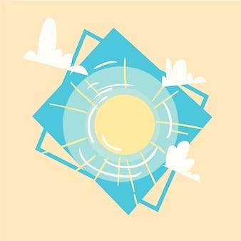 Sun icon summer sea férias de verão de férias de conceito