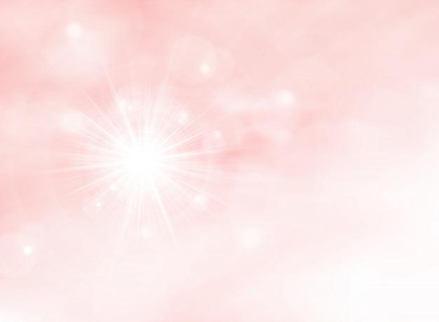 Sunburst de verão no fundo de cor coral vivo rosa