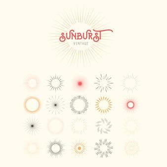 Sunburst do vintage