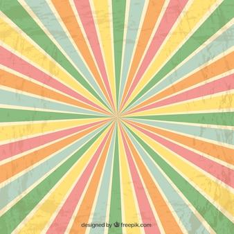 Sunburst fundo colorido