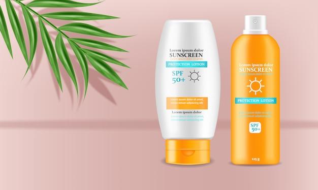 Sunscreen cream design ilustração 3d