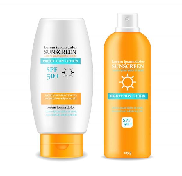 Sunscreen cream design ilustração