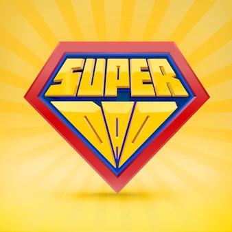 Super avô. logotipo do vovô. conceito do dia do avô. vovô super-herói. dia nacional dos avós. pessoas idosas. tipografia divertida.