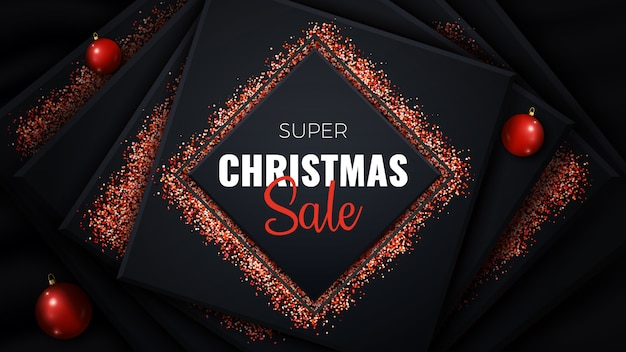 Super banner de venda de natal.