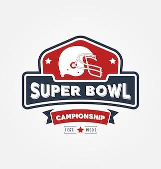 Super bowl championship logo sport design