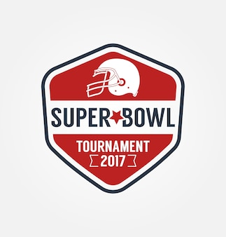 Super bowl tournament logo sport design