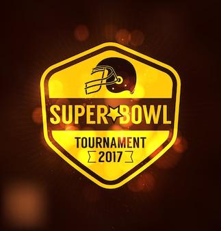 Super bowl tournament logo sport