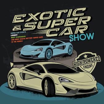 Super carro rápido, ilustração vetorial de carro