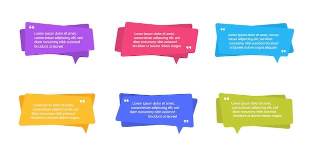 Super definir banners planas geométricas de forma diferente. formas abstratas modernas para citação e texto. moderno estilo plano