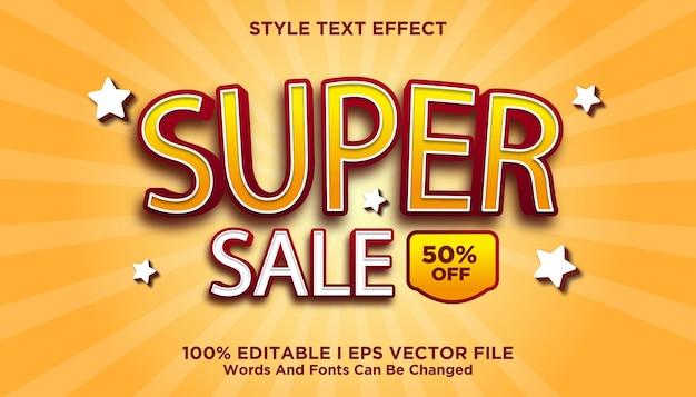 Super efeito de texto de venda 3d