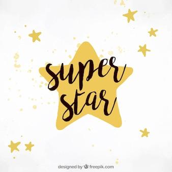 Super estrela de fundo com letras