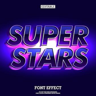 Super estrelas fonte futurista e elegante
