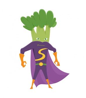 Super-herói de brócolis