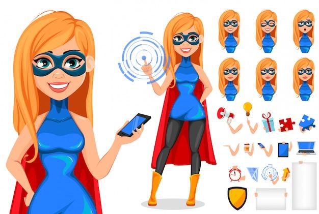 Super-herói de mulher de negócios
