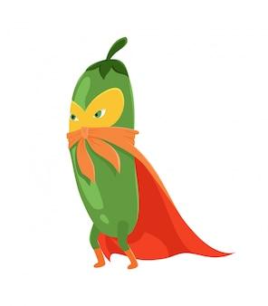 Super-herói de pepino