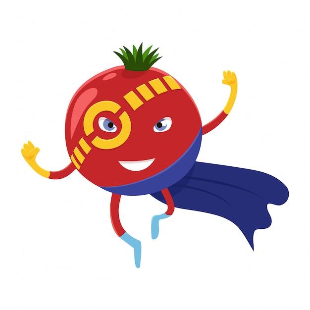 Super-herói de tomate