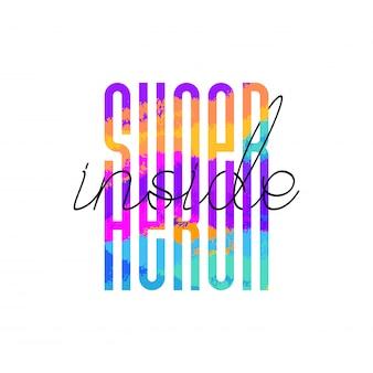 Super-herói moderno dentro de letras