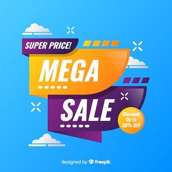 Super mega design de banner de venda