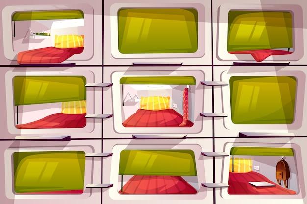 Super pequenos dormitórios para estudantes