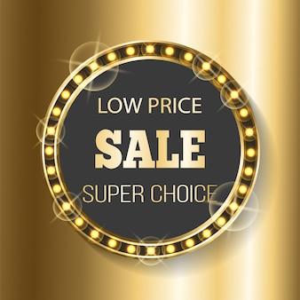Super preço de venda super escolha no mercado ouro banner