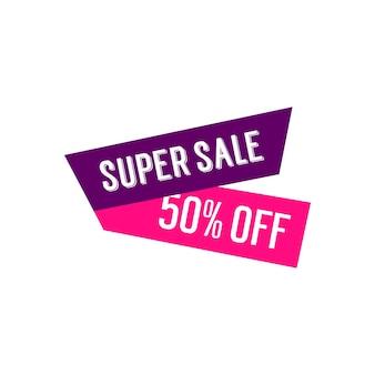 Super sale banner design