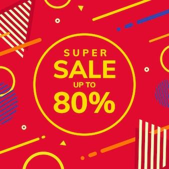 Super sale memphis style background