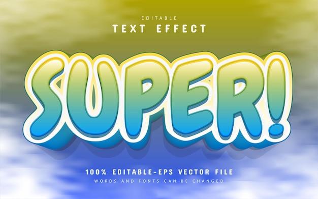 Super texto, efeito de texto 3d editável