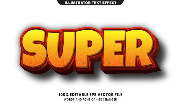 Super texto, efeito de texto editável de estilo de fonte