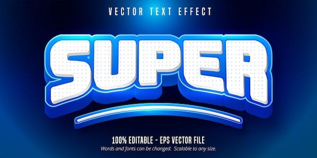 Super texto, efeito de texto editável de estilo esportivo