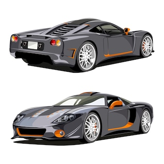 Super veículo clássico de carro esporte