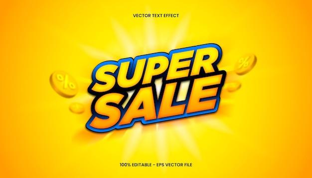 Super venda 3d com tema de cores amarelo e azul.