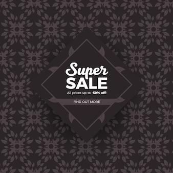 Super venda clássico padrão fundo bonito