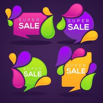 Super venda, coleção de etiquetas de bolha brilhante desconto, banners e adesivos