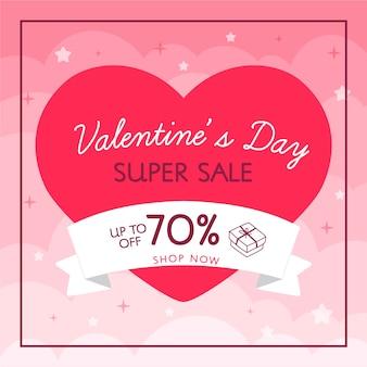 Super venda coração e fita venda de dia dos namorados