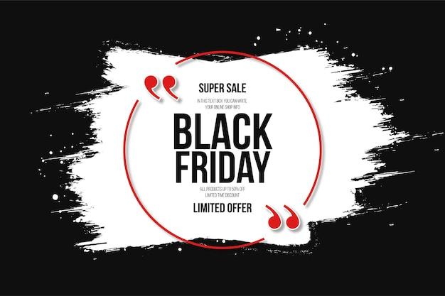 Super venda de black friday com white splash backgrund
