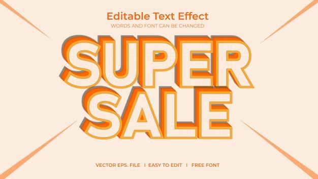 Super venda de efeito de texto