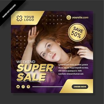 Super venda de modelo de instagram